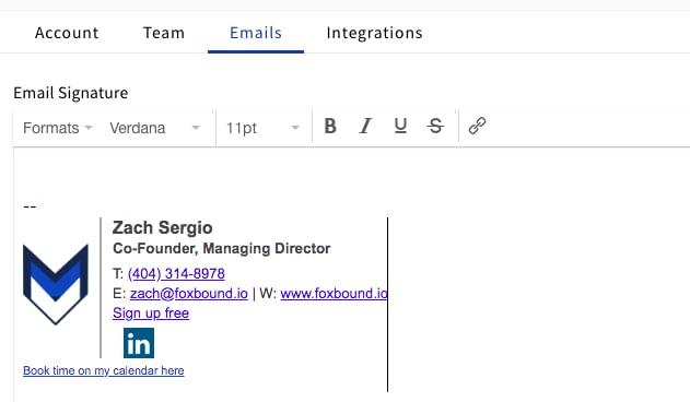 FoxBound Email Signature
