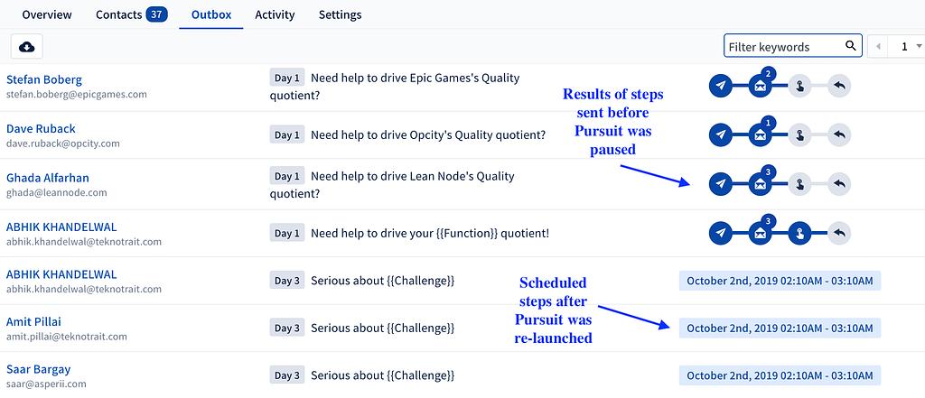 scheduled steps