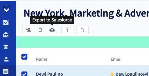 Salesforce upload