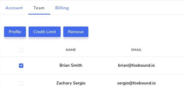 Remove team member