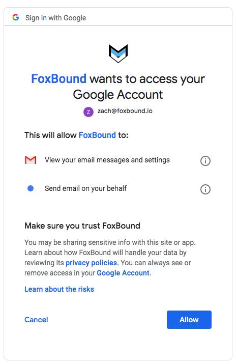FoxBound Gmail Signin